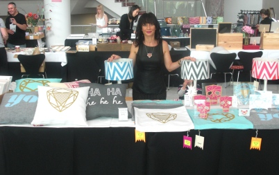 Lorna at the akld art fair