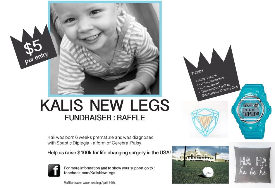 Kalis New Legs RAFFLE