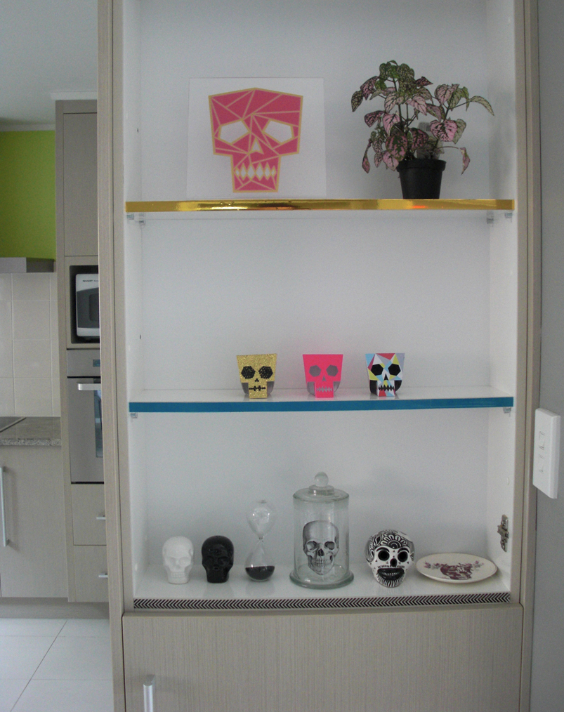 washi-tape shelf